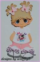 CRAFTECAFE DISNEY GIRL MICE paper pieced premade Scrapbook page die cut WOLFFEY5