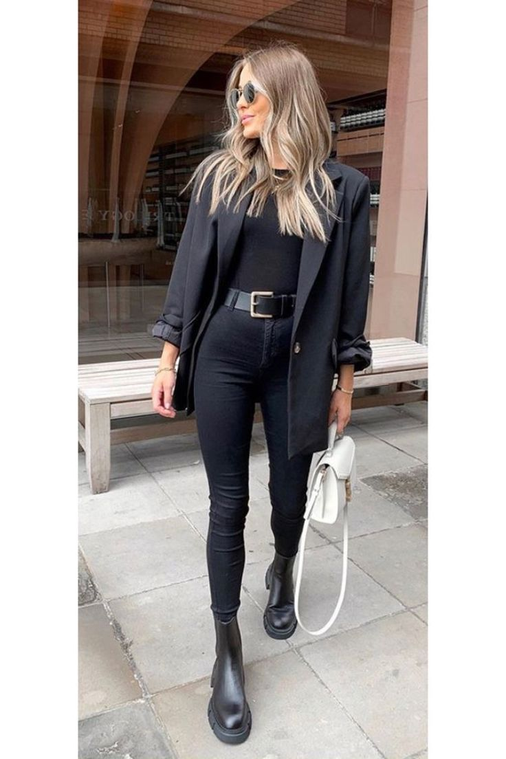 All Black Style Winter Fashion Outfits Fashion Outfits Fashion Inspo Outfits [ 1104 x 736 Pixel ]