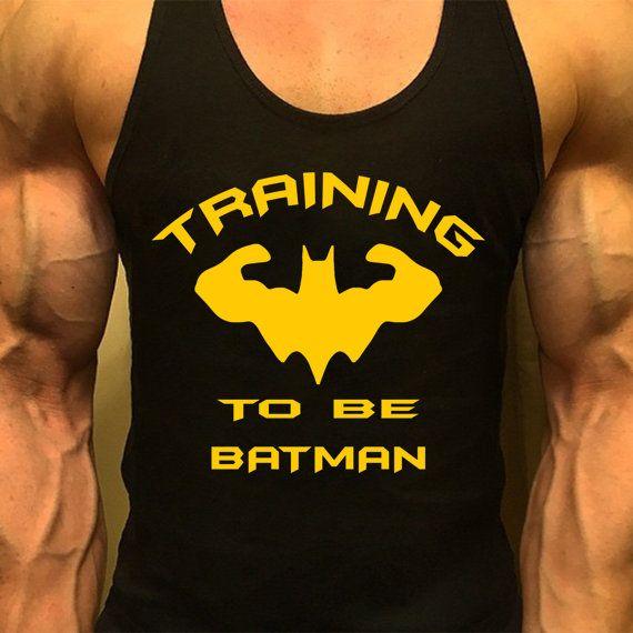 Batman Shirt, Men Workout Tank, Men Gym Shirt, Workout Tank, Mens Gym Tank, Gym Shirts, Muscle Tee, Mens Fitness Tank, Training To Be Batman