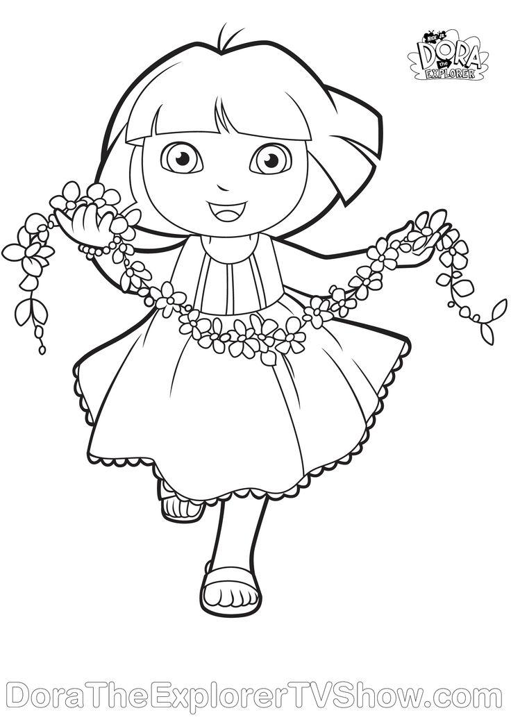 Dora coloring page v rityskuva