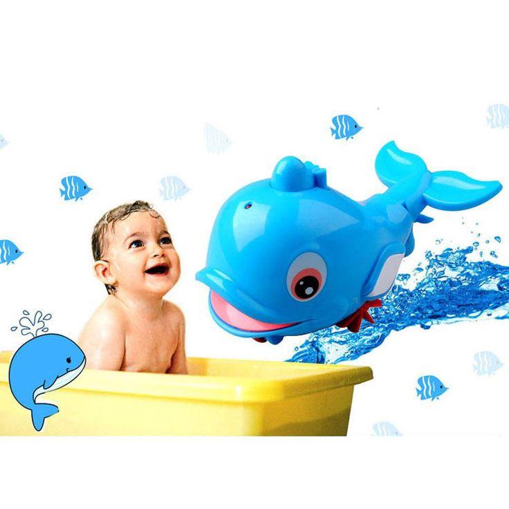 Bath Toy Buddy Dophin: New Swimming Toys Little Dolphin Baby Bath Toys Pull Spray