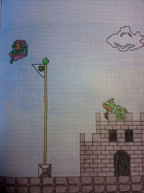 8-bit mario from nes xD