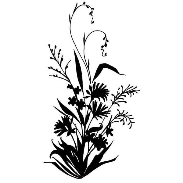 Wildflower Silhouette | Ink! | Pinterest | Flower ...