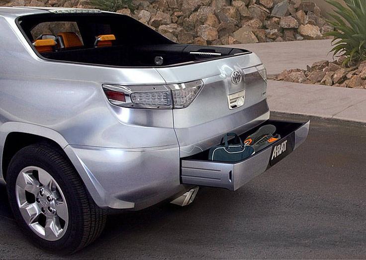 Toyota A-BAT Hybrid Truck - Tailgate storage