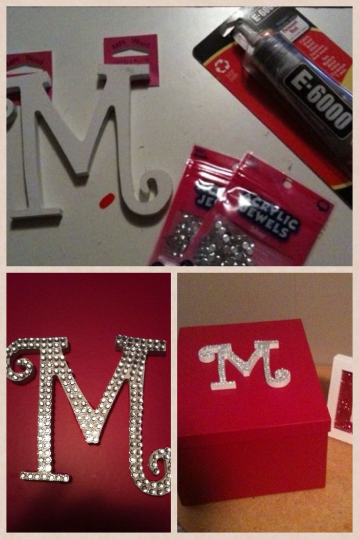Craft project. Bling a store bought letter and add to a box.