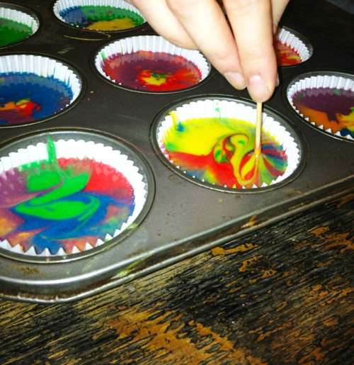 Easy Tie Dye Cupcakes White Cake Mix Amp Some Food Coloring