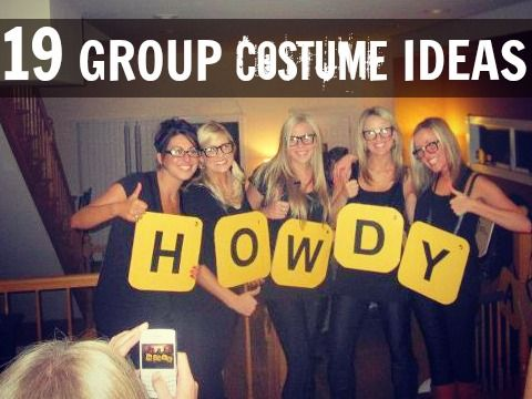 19 Group costume ideas (via C.R.A.F.T.) Including Words with Friends, Pac Man, and Christmas trees!