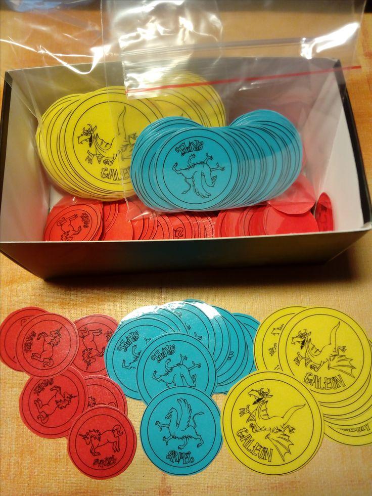 Kouzelníci z 2.B - kouzelnické mince - galeon, srpec, svrček