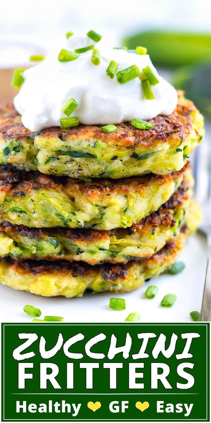 Crispy Baked Zucchini Fritters Recipe