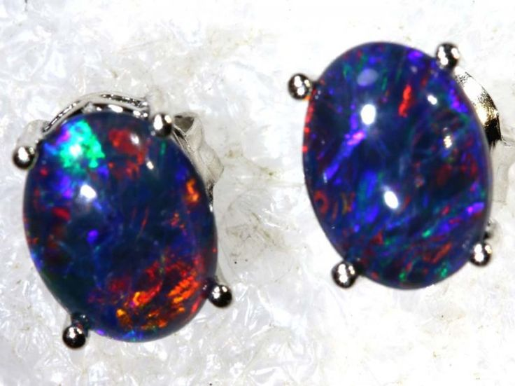6.8 CTS TRIPLET OPAL SILVER EARRINGS OF-2144