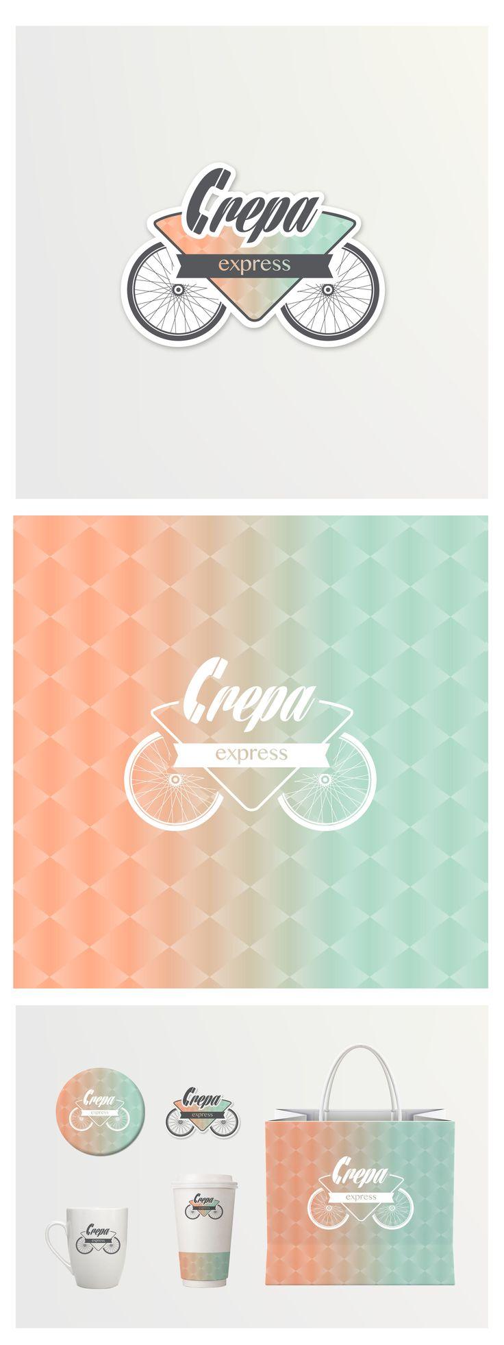 Logotipo y aplicaciones Crepa Express  Servicio de crepas a domicilio  http://www.behance.net/gallery/Crepa-Express/11251485