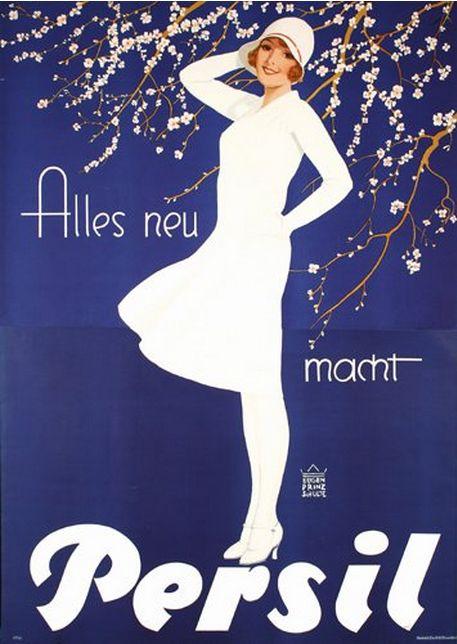 Poster by Eugen Prinz-Schulte, 1929, Alles neu macht Persil.