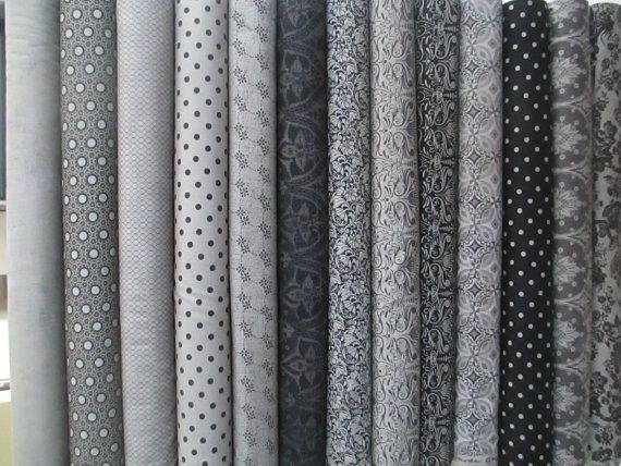 Grey black little black dress 2 fat quarter by quiltsfabricandmore