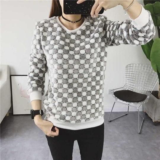 Fashion Winter Sweater Women Top 2018 Casual Cotton Long Sleeve Ladies Cartoon Print Sweater Plus Size 2XL Outwears Jacket 11