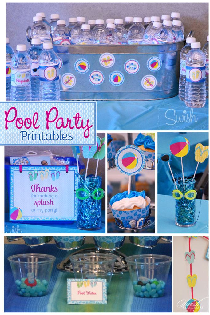 Birthday Pool Party Ideas For Kids birthday pool party tips tricks and cake hint have wine This Tween Pool Party Is Perfect For Kids Of All Ages The Printables Make It Easy To Carry Your Party Theme Throughout The Party