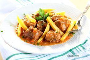 Carne estofada con la receta de ossobuco a la milanesa. Queda espectacular…¡Una carne!, ¡una salsa!…¡buenísimo! Es un plato que sale muy bien de precio.