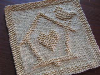 Birdhouse of Love dishcloth