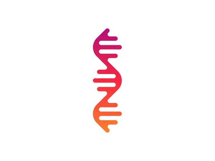 Human DNA and genetic logo design