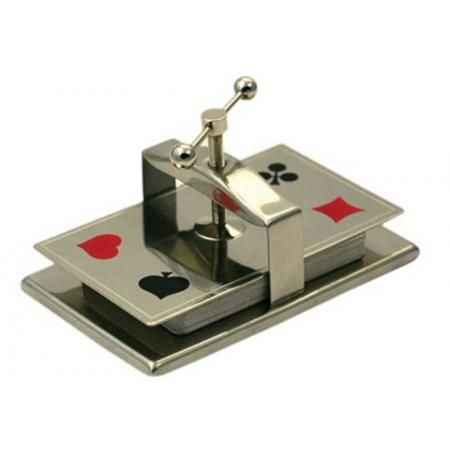 Collector's Card Press- Chrome  Available at http://www.playingcards4magic.com/products/playing-card-storage/