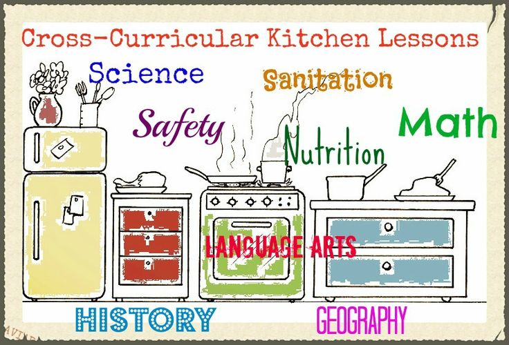Kitchen Lessons - great ideas of what kids can learn by cooking and helping out in the kitchen!