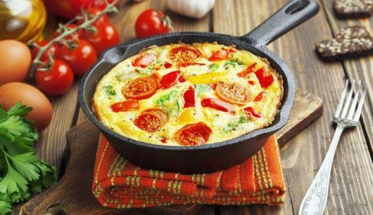 : Feines Omelette, das auch perfekt für den Brunch geeignet ist. Alles Low Carb, versteht sich...