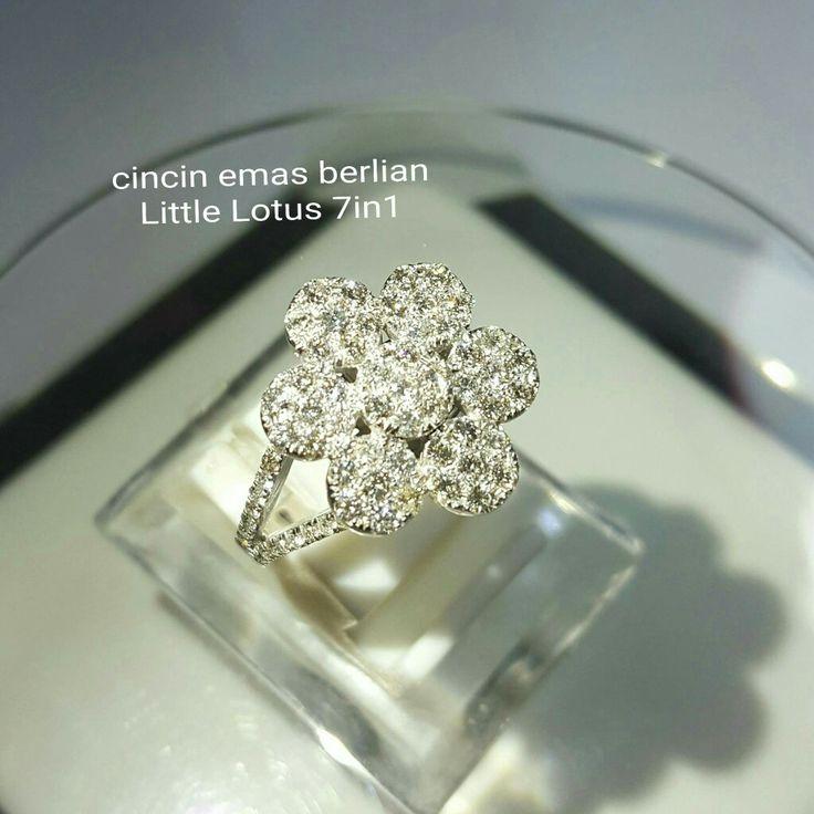 New Arrival🗼. Cincin Emas Berlian Little Lotus 7in1💎💍.   🏪Toko Perhiasan Emas Berlian-Ammad 📲+6282113309088/5C50359F Cp.Antrika👩.  https://m.facebook.com/home.php #investasi#diomond#gold#beauty#fashion#elegant#musthave#tokoperhiasanemasberlian