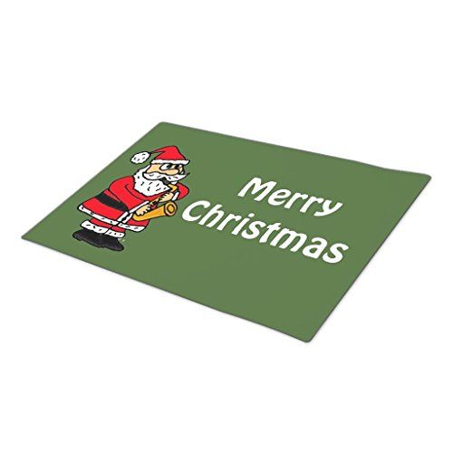 HomeTaste Monogrammed Door Mat Santa Claus Playing Saxophone Christmas Large Door Mats * Find out more about the great product at the image link.