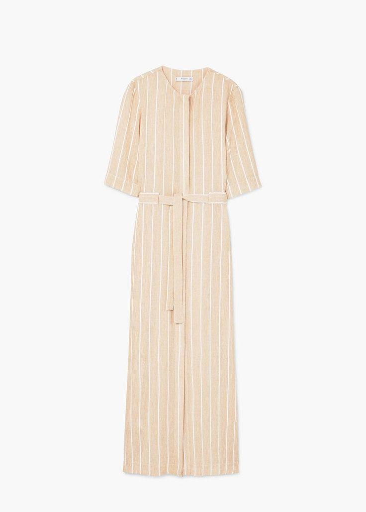 Flowy randig klänning