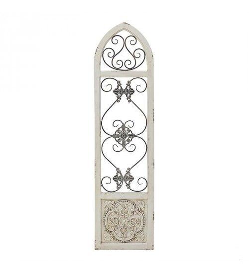 WOODEN_METAL DECORATIVE DOOR IN ANTIQUE WHITE 36X2_5X138