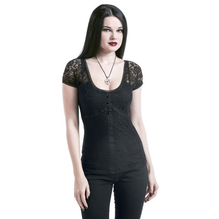 gothicana by emp t shirt lace shirt k p i sweden rock. Black Bedroom Furniture Sets. Home Design Ideas