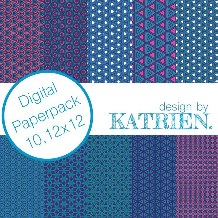 Digitale papier Pack, digitale Scrapbook papier, digitale patronen, Instant download, blauw en roze (0007) door DesignbyKatrien op Etsy https://www.etsy.com/nl/listing/502922306/digitale-papier-pack-digitale-scrapbook