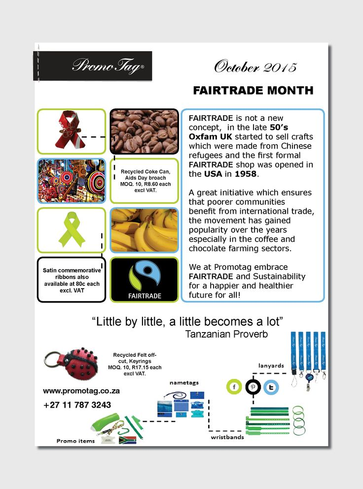 Oct is Fair Trade Month!