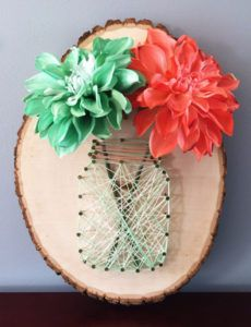 DIY String Art Projects - Mason Jar String Art - Cool, Fun and Easy Letters, Patterns and Wall Art Tutorials for String Art - How to Make Names, Words, Hearts and State Art for Room Decor and DIY Gifts - fun Crafts and DIY Ideas for Teens and Adults http://diyprojectsforteens.com/diy-string-art-projects