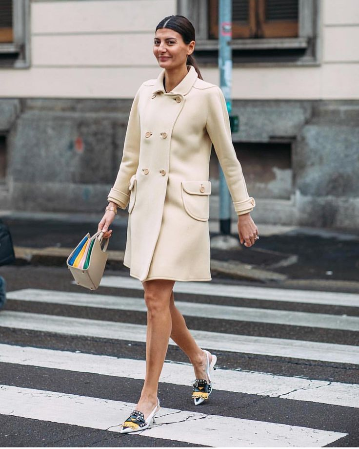 "Giovanna Battaglia Engelbert : ""Vintage Courreges coat #vinta_gio @nytimesfashion by @styledumonde #courreges"""