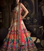 Latest designer Lehengas online at Mirraw, we offer exclusive collection for lehenga online shopping like bridal lehenga sarees, ghagra choli, and net fabric lehenga choli at best price.