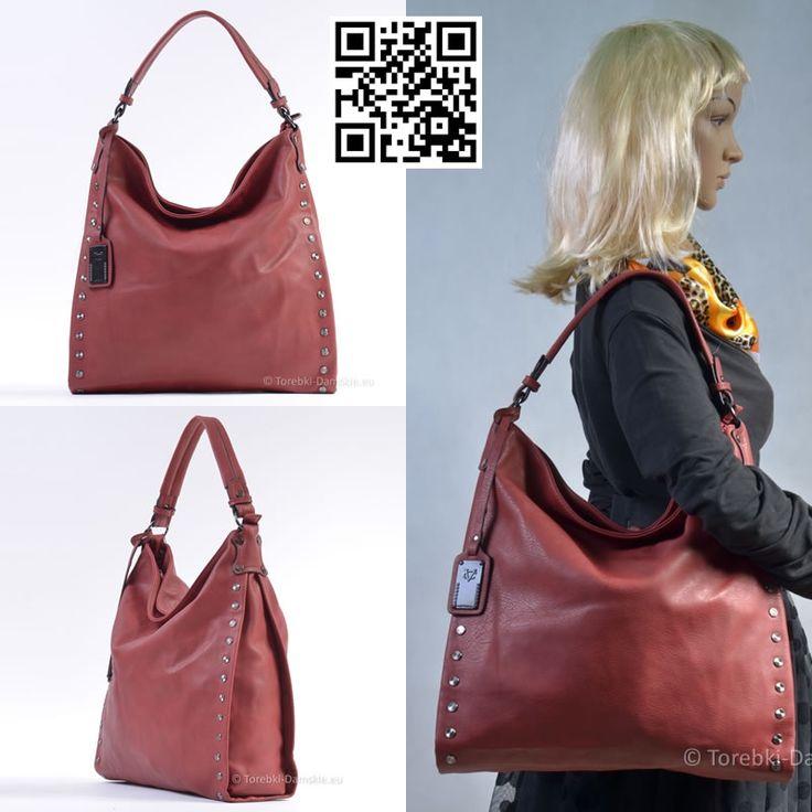 Duża torba A4, kolor czerwonego wina. #torebki z kolekcji Jesień 2014 #handbags #fashion