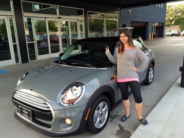 Nicole Ladouceur and her brand new 2015 MINI COOPER 4 DOOR HARDTOP in Moonwalk Gray! Motoring Advisor Mike Gooding.