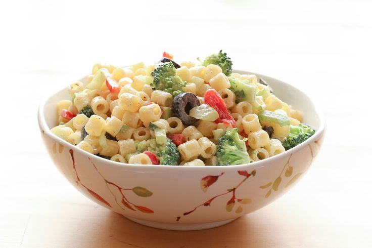 Creamy Summer Pasta Salad recipe by Barefeet In The Kitchen