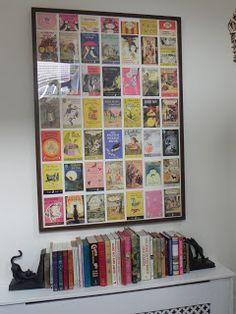 Children's room: framed postcard collage of classic children's books… Mmmmm YES!