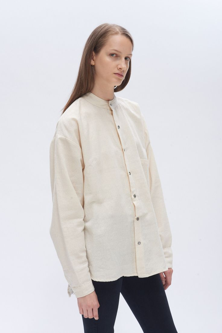 Poet Shirt No.2 - Natural Well Made Clothes
