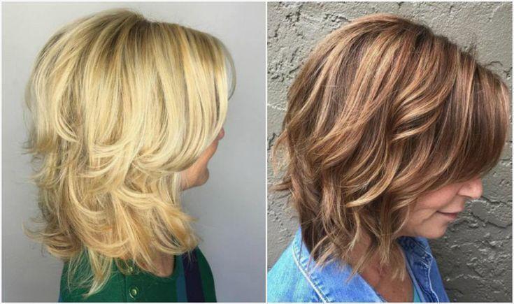 Trendy Frisuren Frauen Halblang Gestuft Frauen Frisuren