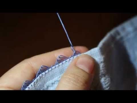 İğne Oyası Dersleri BASİT YAPRAK MODELİ 8. Ders-Easy Needle Lace Tutorials Lesson 8 Leaf - YouTube
