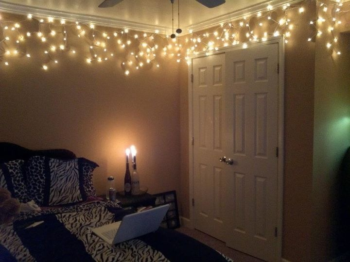My bedroom with tips from pinterest diy home decor pinterest more bedrooms room ideas for White christmas lights bedroom