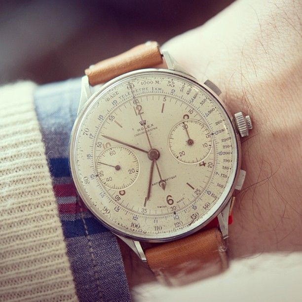 vintage Rolex : there are modern Russian models that mimic this design.