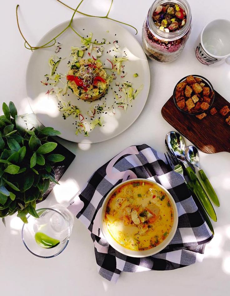 #Supa de #gulii si #salata #quinoa #tabbouleh
