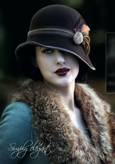 20's fashion. I absolutely adore 20's style and fashion. Plus I'm all about hats and this one's to die for!