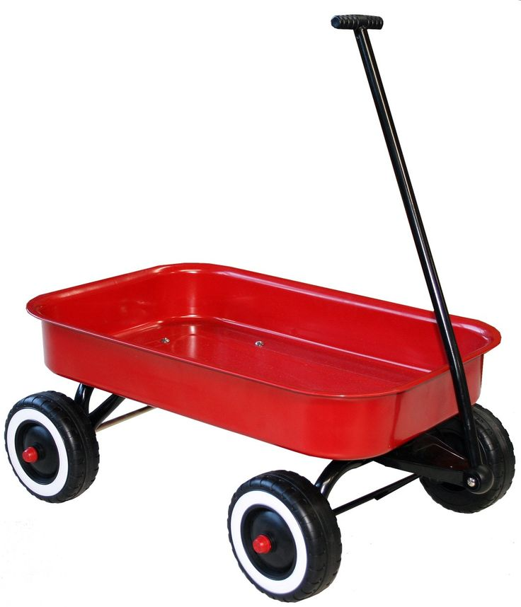Red Metal Wagon to carry around everything our son needs to look after his Veggie Garden and his trees we planted for him. #pintowin #entropywishlist