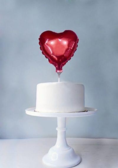 Ballon folie hart met stickMaak een feest bijzonder met deze grote hart…