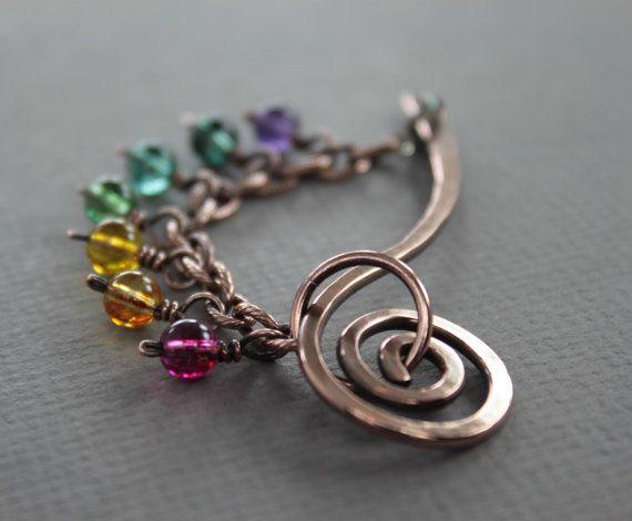 Palo de arco iris chal pin pin de bufanda con por IngoDesign