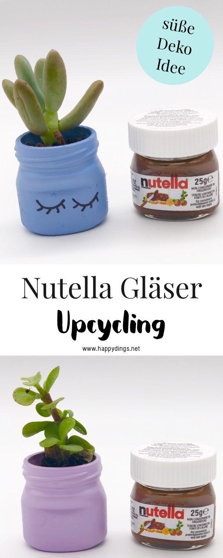 Blumentöpfe selber machen aus Einweggläsern – einfache Upcycling Ideen – CreactCult- DIY: Deko, Möbel, Upcycling, Basteln und Geschenke